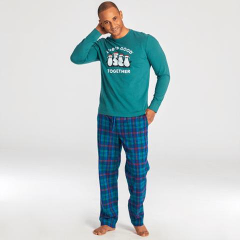 Men's Classic Sleep Pant, Holiday Plaid