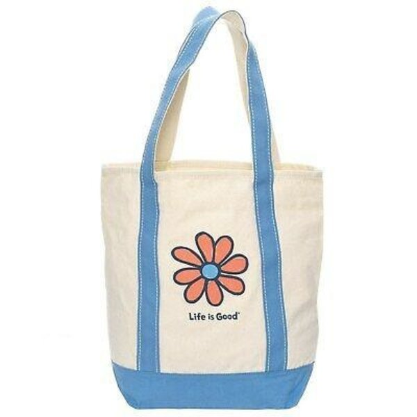 Life is Good Carry On Canvas Tote, Heart