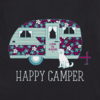 Womens Crusher Tee Floral Happy Camper