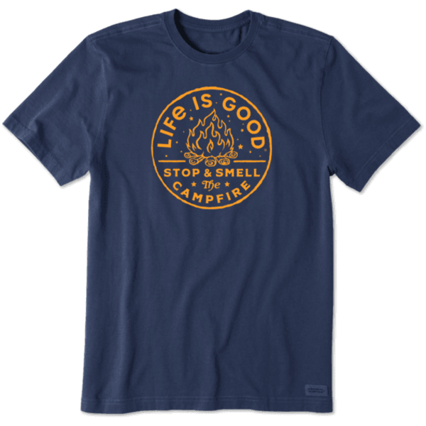 Men's Crusher Tee, Stop & Smell the Campfire