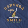 Men's Crusher Tee, Cerveza with a Smile