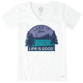 Life is Good Womens Crusher Tee, Lake it Slow