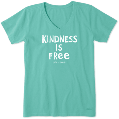 Womens Crusher Vee, Kindness is Free