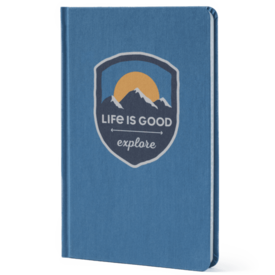 Life is Good Explore Mountain Canvas Mead Journal