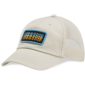 Soft Mesh Back Chill Cap, Life is Good, Bone