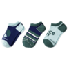 Boys 3-Pack No Show Socks, Peace Out