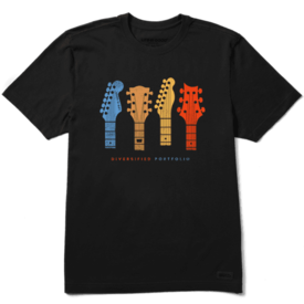 Men's Crusher Tee, Diversified Portfolio Guitar