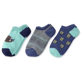 Life is Good Boys 3-Pack Low Cut Socks, Rocket & Football