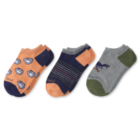 Life is Good Boys 3-Pack Low Cut Socks, Jake & Dinosaurs