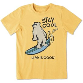 Life is Good Boys Crusher Tee, Stay Cool Polar Bear