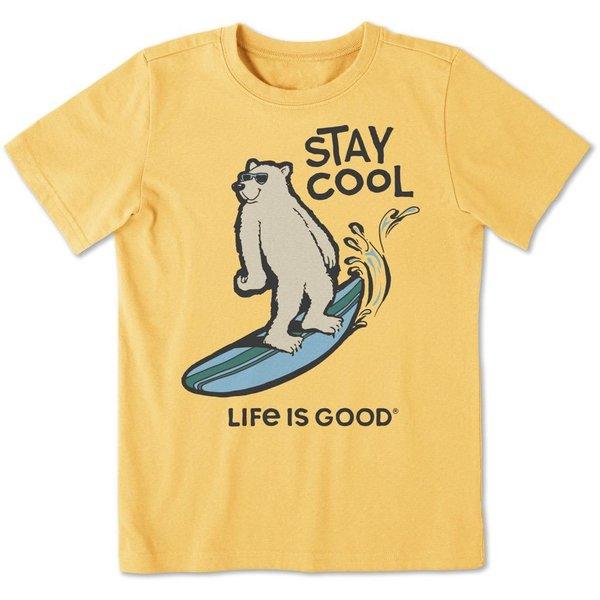 Life is Good Boys Crusher Tee Stay Cool Polar Bear