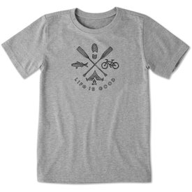 Life is Good Boys Crusher Tee, Outdoor Action