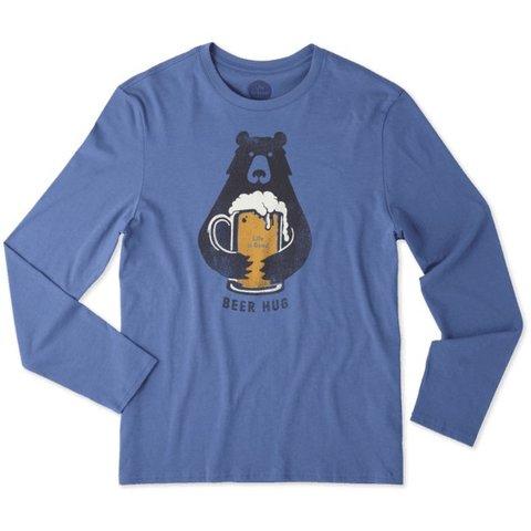 Men's L/S Smooth Tee, Beer Hug