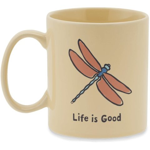 Jake's Mug, Dragonfly, Happy Yellow
