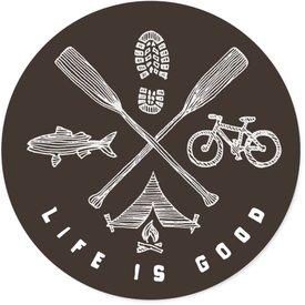 Life is Good LIG Sticker Outdoor Adventure