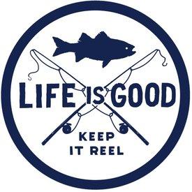 Life is Good LIG Sticker Keep it Reel