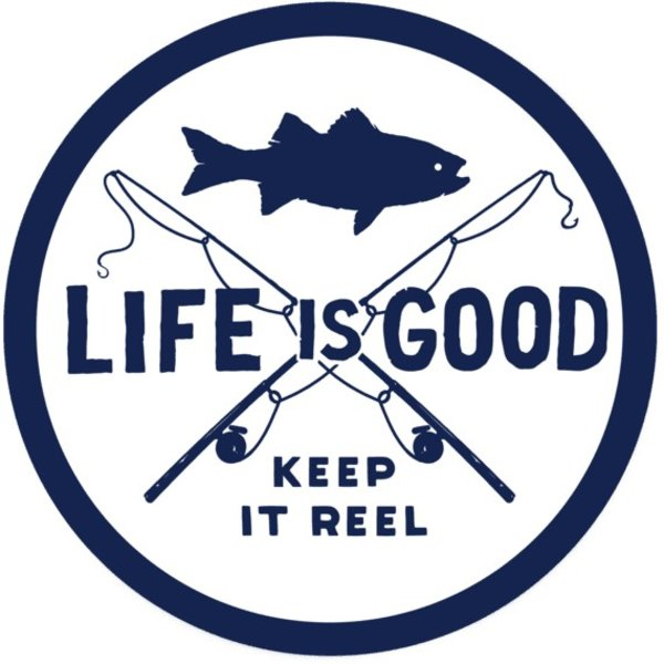 Life is Good LIG Sticker Keep it Reel Fishing
