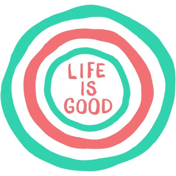 Life is Good Die Cut Sticker, Life is Good