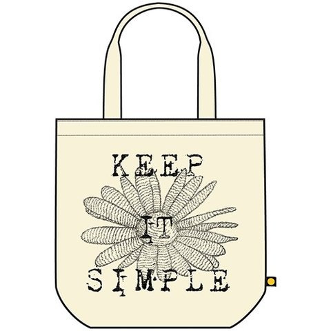 Recycled Tote, Keep It Simple Daisy, Natural