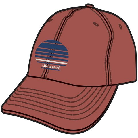 Men's Chill Cap, LIG Stripes, Earthy Rust