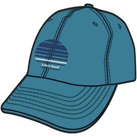 Life is Good Chill Cap, LIG Stripes, Denim Blue