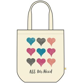 Life is Good Canvas Messaging Tote, All We Need