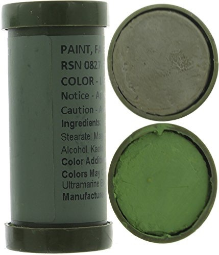 GENUINE SURPLUS Face Paint - Woodland Sticks - Genuine Issue - LightGreen & Sand
