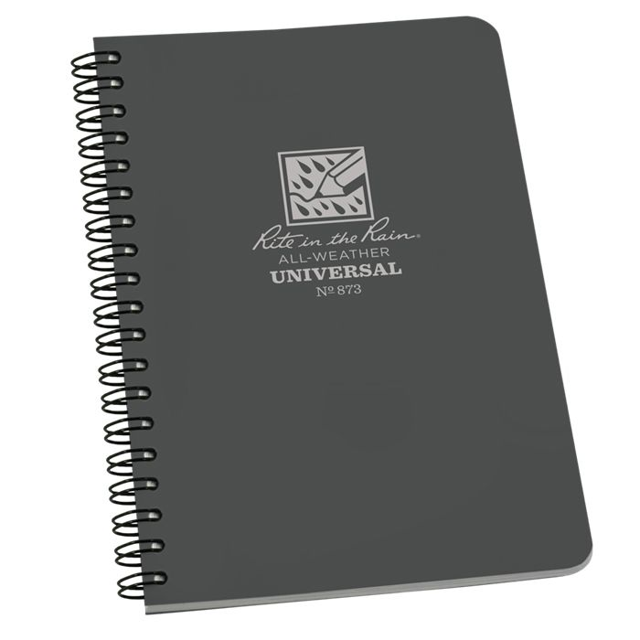 RITE IN THE RAIN Universal Polydura Notebook, 4 5/8'' x 7'', Grey
