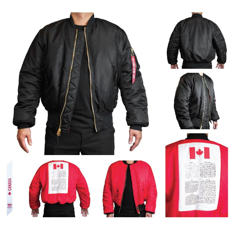 ALPHA INDUSTRIES INC. MA-1 Flight Jacket, Blood Chit