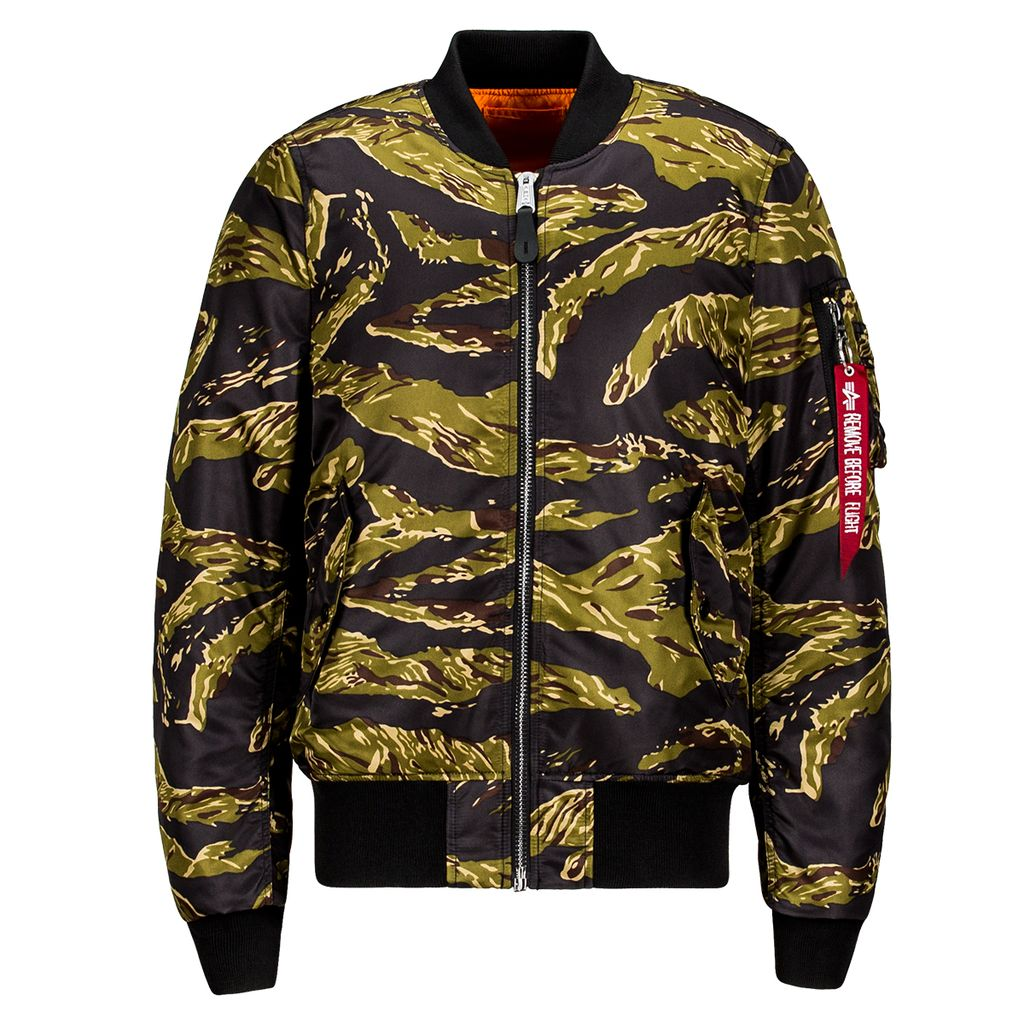ALPHA INDUSTRIES INC. MA-1 Flight Jacket, Tiger Stripe