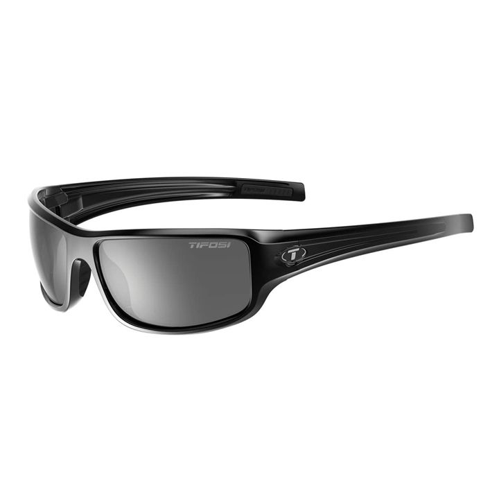 TIFOSI Bronx, Gloss Black Frame, Smoke Lenses