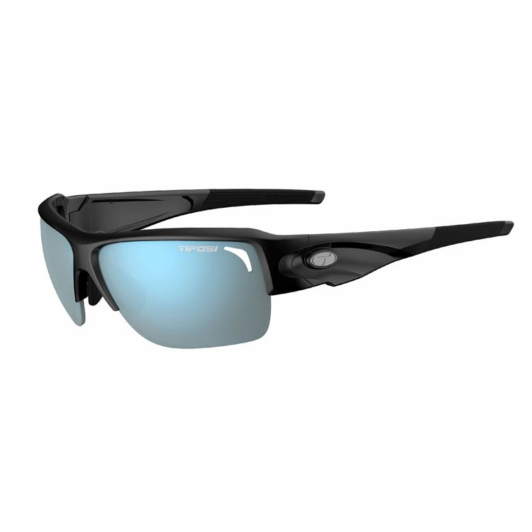TIFOSI Elder SL, Gloss Black Frame, Smoke Bright Blue Lenses