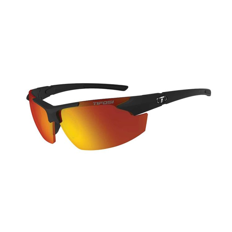 TIFOSI Jet FC, Matte Black Frame, Smoke Red