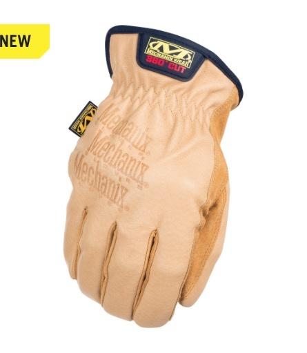 MECHANIX WEAR Leather Drive Glove, 360 Cut Resistant CR5A9