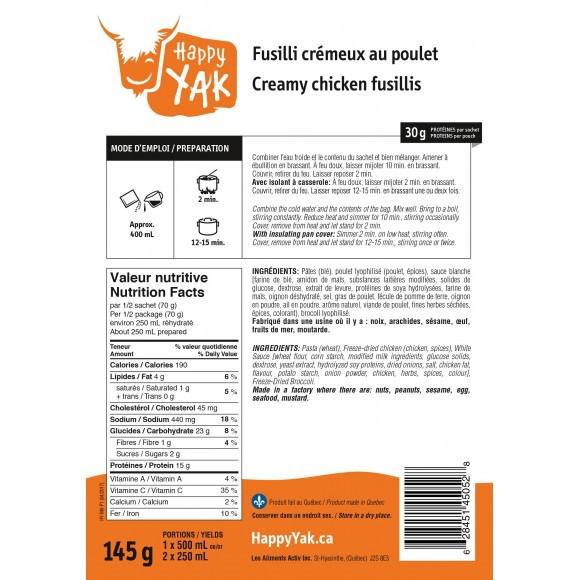 HAPPY YAK Creamy Chicken Fusilis