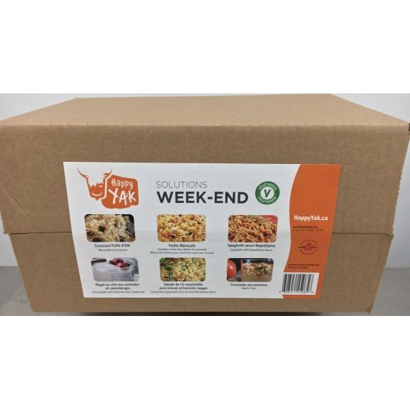 HAPPY YAK Week-end Solution Vegetarian