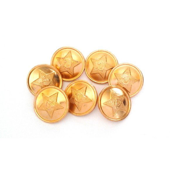 GENUINE SURPLUS Soviet Star Buttons,