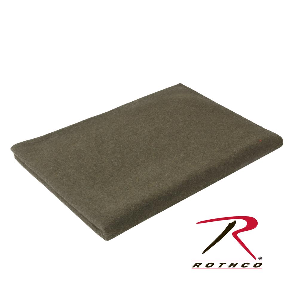 "ROTHCO Wool Blanket, Olive, 66"" x 90"""