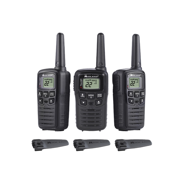 MIDLAND T10X3 2-Way Radio, 3-Pack