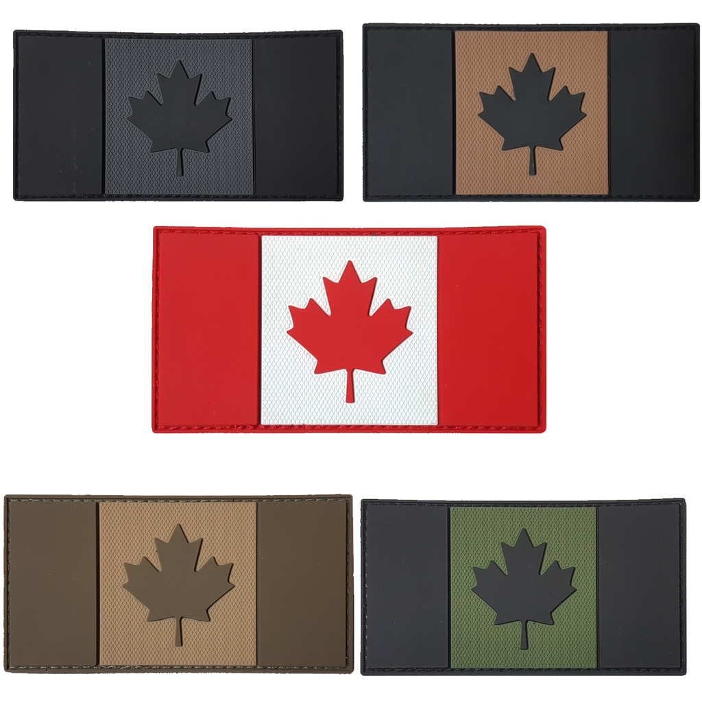 "Tactical Innovation Canadian Flag 2"" x 4"""