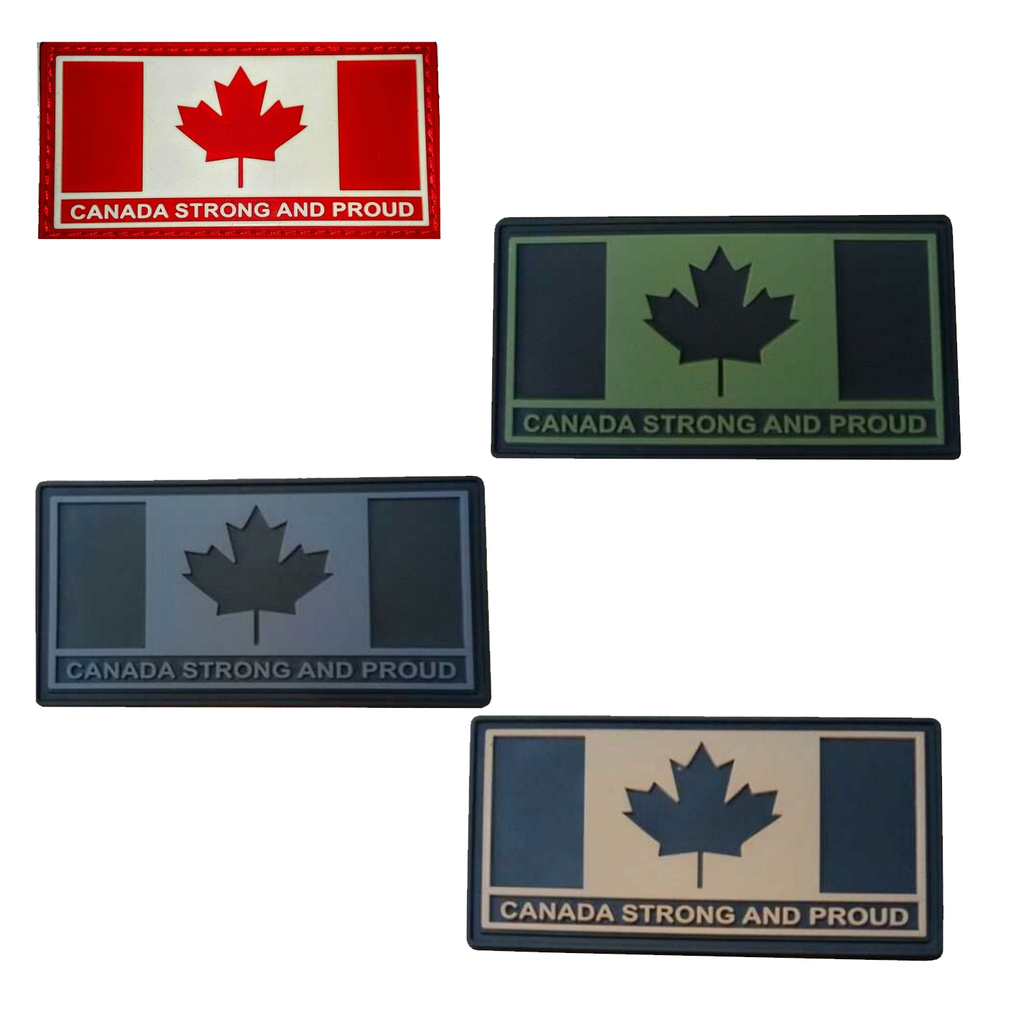 "Tactical Innovation Canada Strong and Proud, 11/2"" x 3"""
