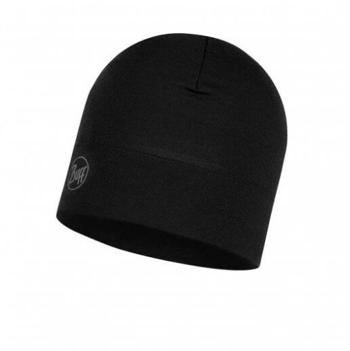 BUFF Midweight Merino Wool Hat, Black, 1 size<br /> <br /> Graphite Multi Stirpes<br />Midweight Merino Wool Hat<br /> Graphite Multi Stirpes