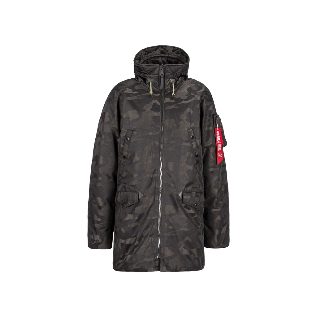 ALPHA INDUSTRIES INC. N-3B Down Parka Jacquard, Black Camo