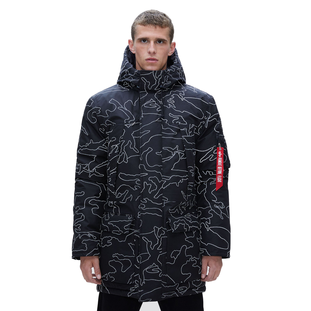 ALPHA INDUSTRIES INC. N-3B Primaloft Parka, Reflective Camo