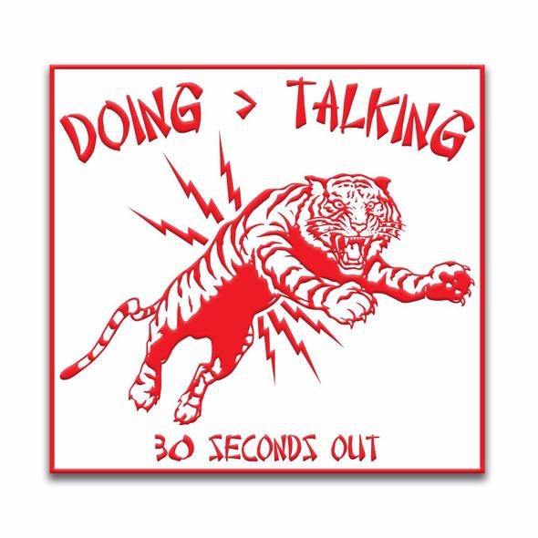 "30 Sec Out Velcro Patch, Chinese Takeout ""Doing is Greater than Talking"" Tiger"