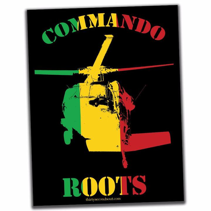 30 Sec Out Sticker, Commando Roots