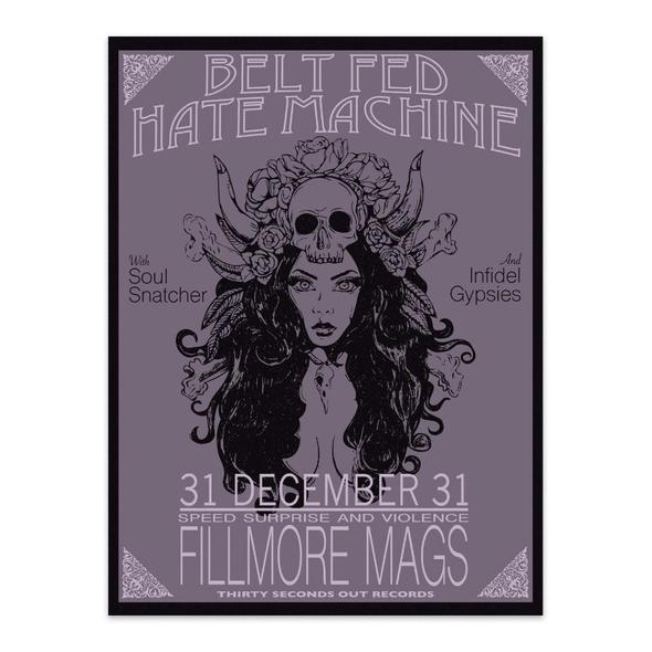 30 Sec Out Sticker,  Belt Fed Hate Machine