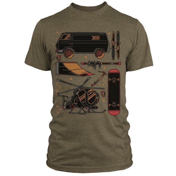 30 Sec Out Sticker, T-Shirt, New School