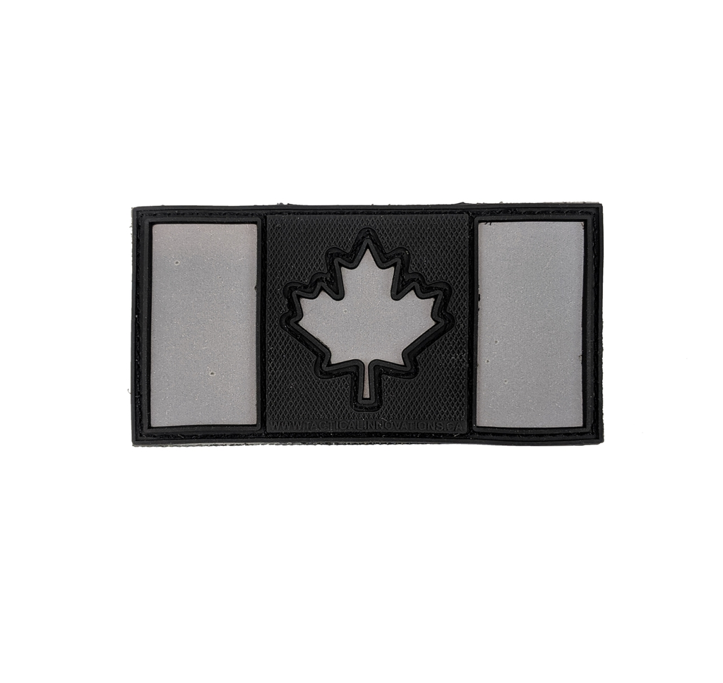 Canadain Flag, Black & Reflective