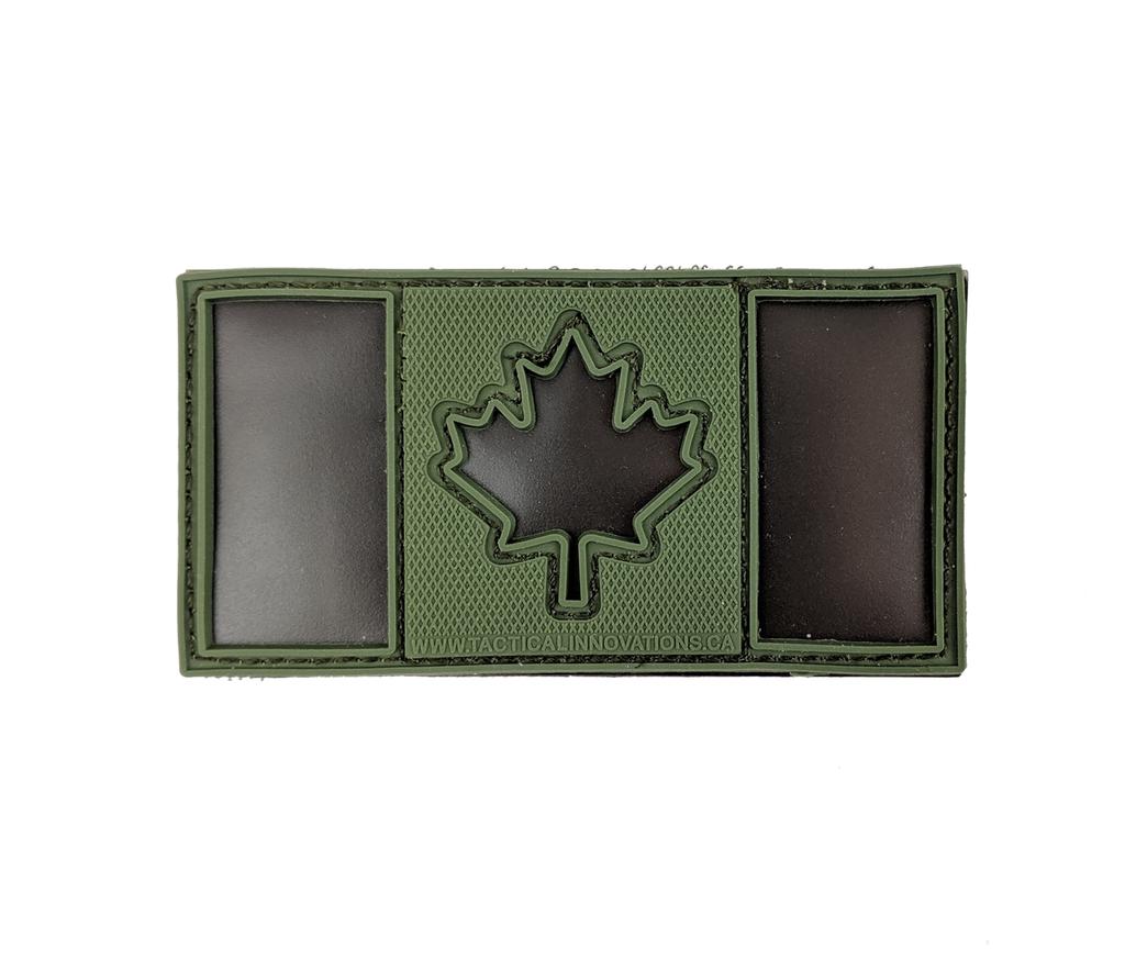 Canadian Flag, Black IR & Olive